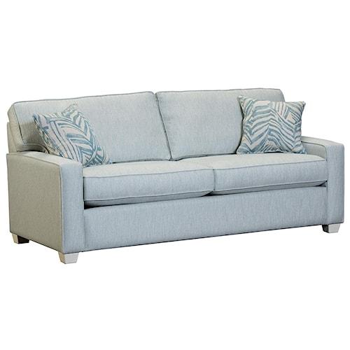 Capris Furniture 146 Contemporary Queen Sleeper Sofa with Cozy Mattress