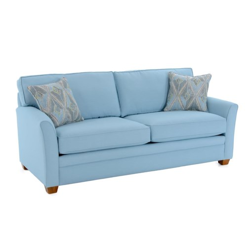 Capris Furniture 202 Casual Flared Arm Sleeper Sofa