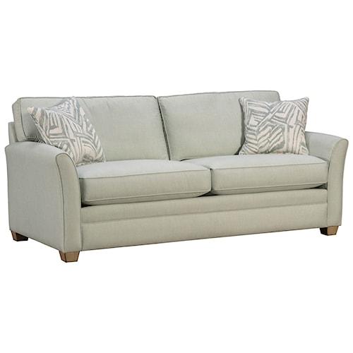 Capris Furniture 202 Casual Flared Arm Sofa