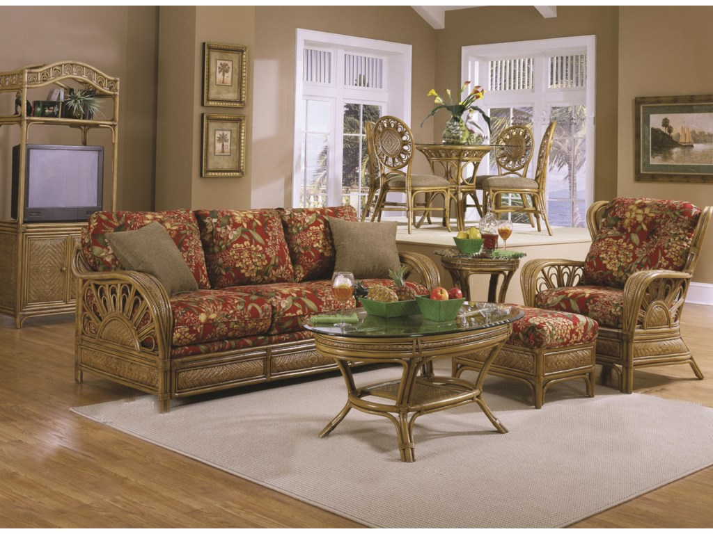 Shown With Coordinating Sofa, Chair and Ottoman