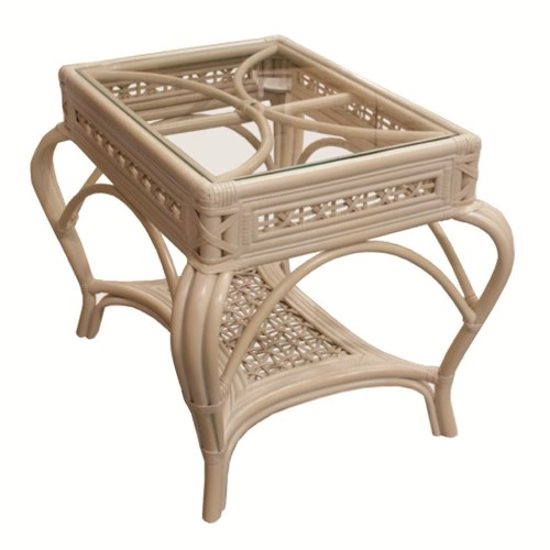 Capris Furniture 341 Collection Wicker Rattan Lamp Table