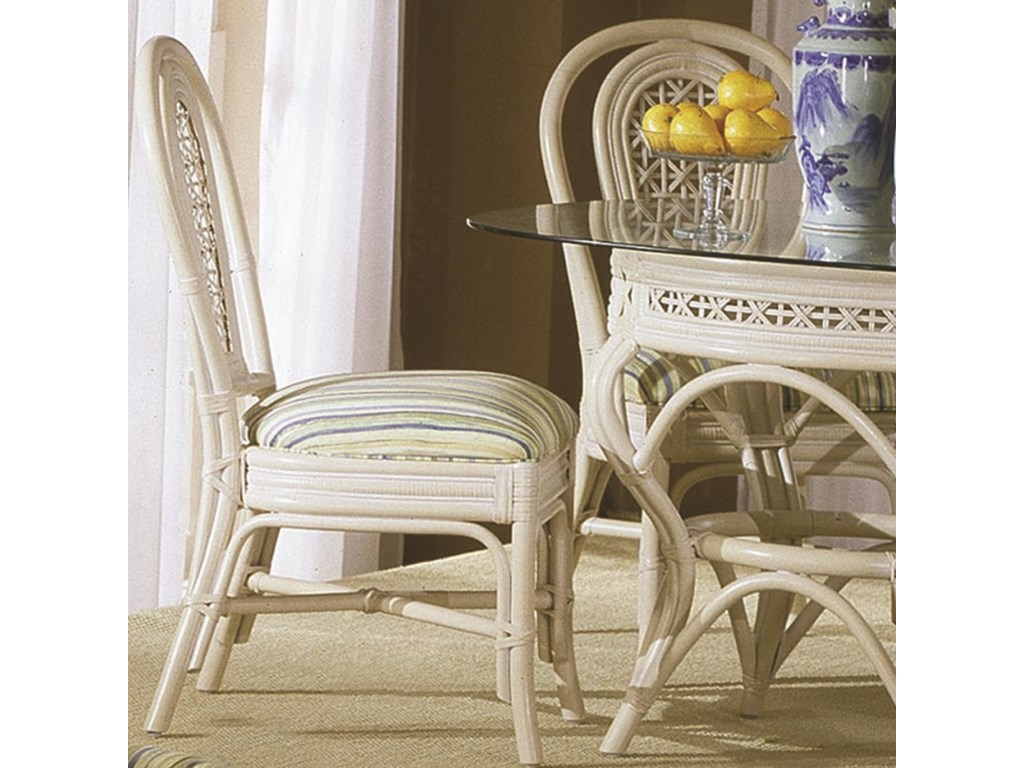 Capris Furniture  Collection Wicker Rattan Dining Side Chair - Rattan dining room set