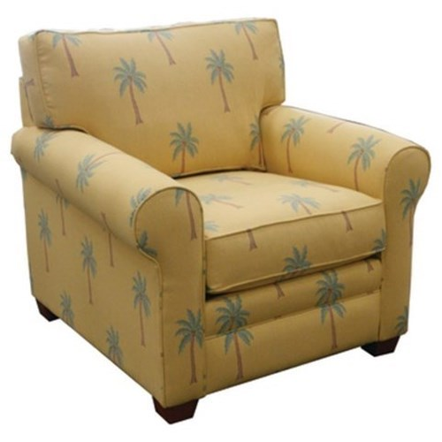 Capris Furniture 402 Casual Rolled Arm Chair