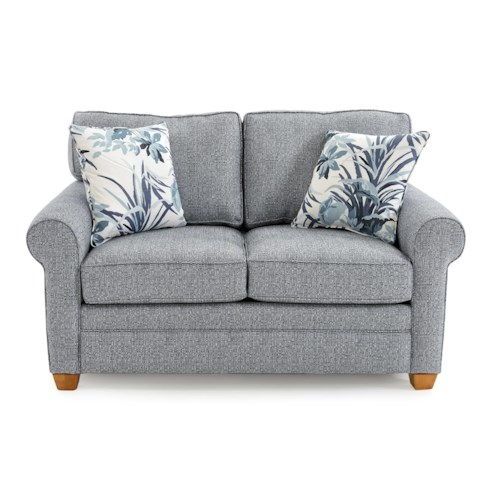 Capris Furniture 402 Casual Rolled Arm Loveseat