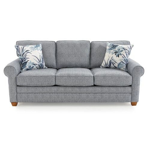Capris Furniture 402 Casual Rolled Arm Sleeper Sofa