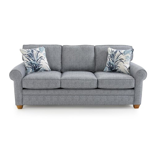 Capris Furniture 402 Casual Rolled Arm Sofa