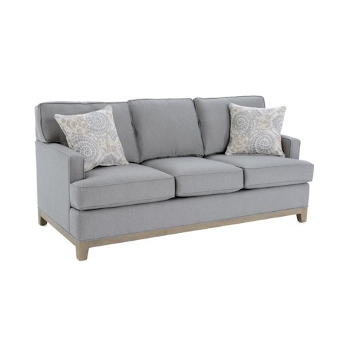 Capris Furniture 752 Stationary Sofa w/ Accent Pillows