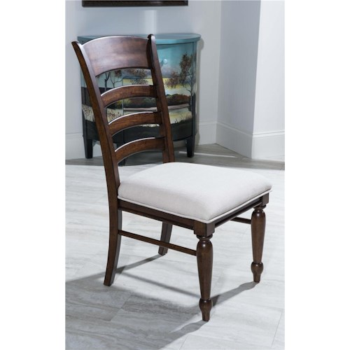 Morris Home Furnishings Livingston Ladder Back Side Chair