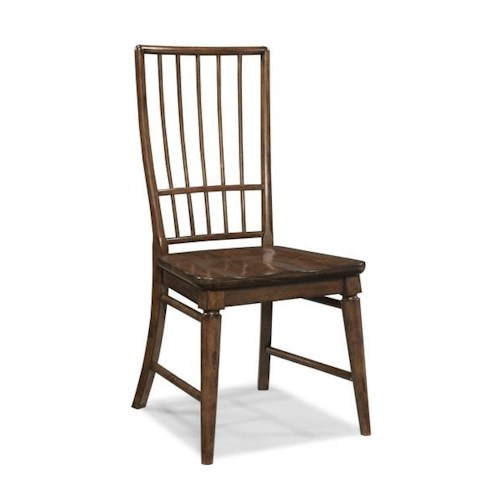 Morris Home Furnishings Livingston Cherry Rake Back Side Chair