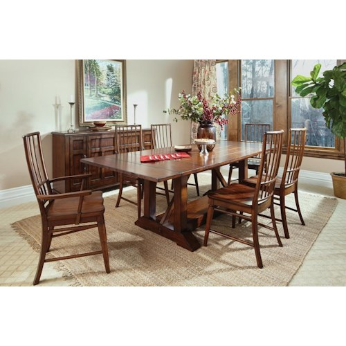 Morris Home Furnishings Livingston  5 Piece Table and Chairs Set includes table and 4 side chairs