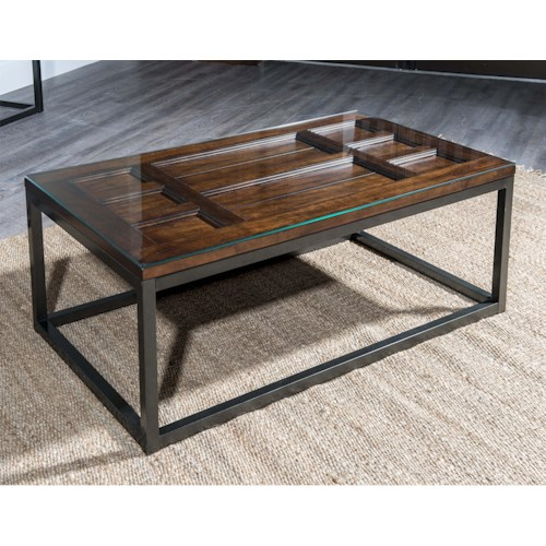 Easton Collection Blue Ridge Foothill-Cherry Cocktail Table