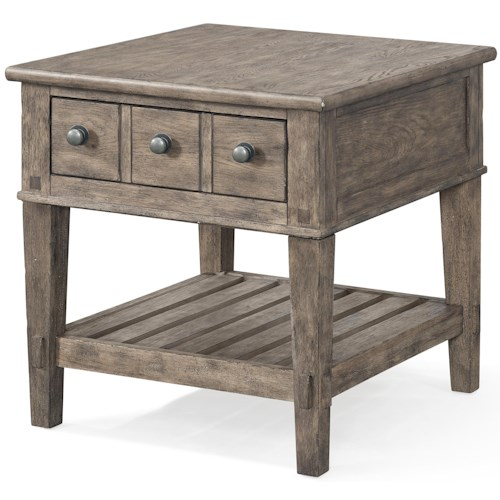 Carolina Preserves by Klaussner Riverbank 'Whitewater' 1 Drawer End Table