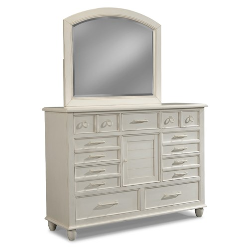 Easton Collection Sea Breeze Dresser and Mirror Set