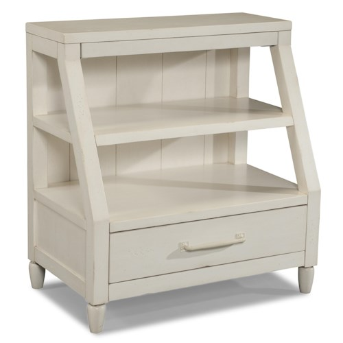 Easton Collection Sea Breeze Sweet Dreamer-White Shelf Nightstand