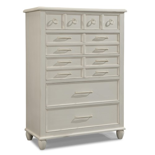 Easton Collection Sea Breeze Chest with 5 Storage Drawers