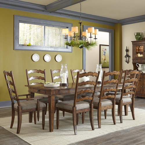 Easton Collection Farmhouse Dining Table and Chairs Set