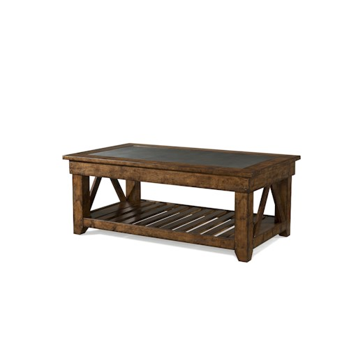 Easton Collection Farmhouse Legacy Rectangular Cocktail Table
