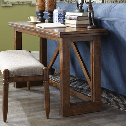Easton Collection Farmhouse Gate Leg Sofa Table