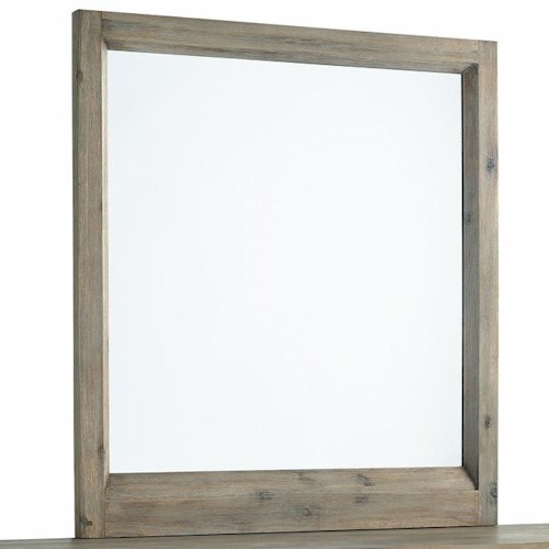 Morris Home Furnishings Westwood Portrait Mirror with Beveled Wood Frame