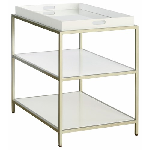 Casana Delaney End Table with Removable Tray Top