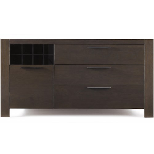 Belfort Select Modera Server with 4 Drawers and a Wine Rack
