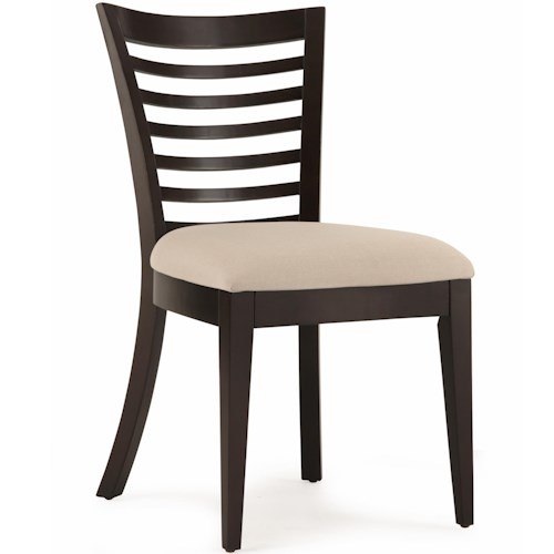 Belfort Select East Gate Open Slat Back Side Chair with Upholstered Seat