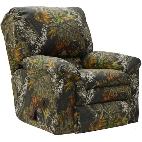 Catnapper Trapper Casual Recliner with Plush Pillow Top Arms