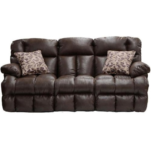 Catnapper Cedar Creek Casual Power Reclining Sofa with Fold Down Middle Seat with Cup Holders