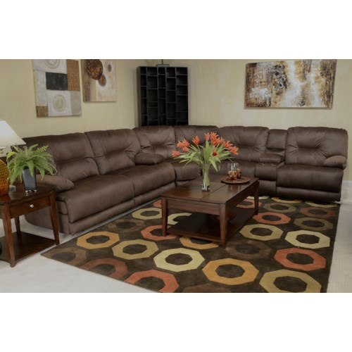 Catnapper Noble Power Reclining Sectional Sofa