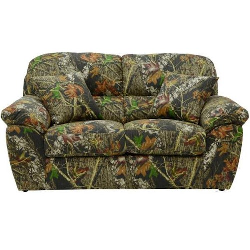 Catnapper Cumberland Casual Love Seat with Pillow Top Arms