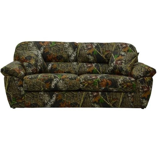 Catnapper Cumberland Casual Sofa with Two Throw Pillows