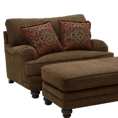 Jackson Furniture Brennan Large Chair and a Half for Formal Living Rooms