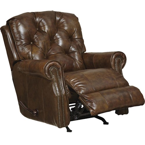 Catnapper Davidson Power Traditional Rocker Recliner with Nail Head Accent