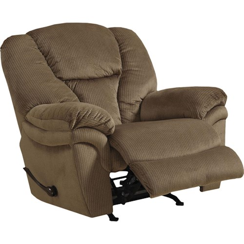 Catnapper Drew Chaise Rocker Recliner with Pillow Arms