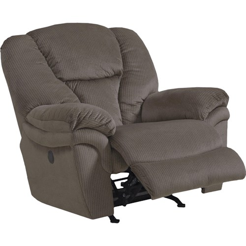 Catnapper Drew Power Chaise Rocker Recliner with Pillow Arms