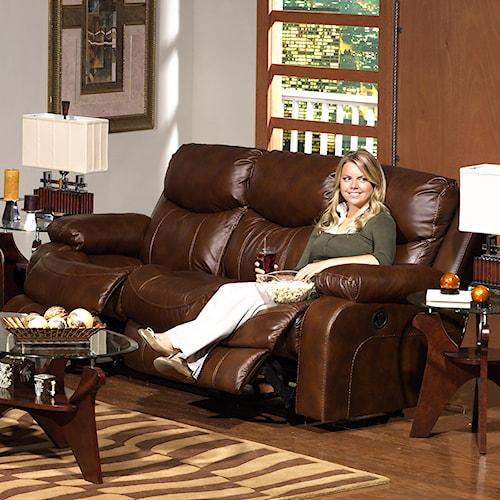 Catnapper Dallas  Top Grain Leather Reclining Sofa