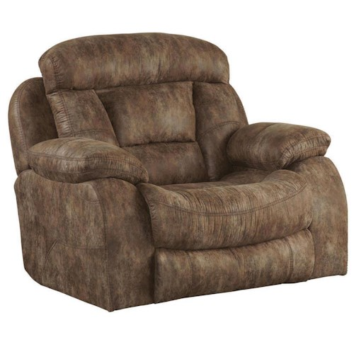 Catnapper Desmond Power Lay Flat Recliner with Extra Wide Automotive Seat Design