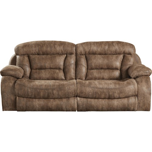 Catnapper Desmond Reclining Sofa with Extra Wide Automotive Seating