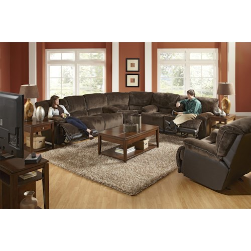 Catnapper Escalade 171 Transitional Reclining Sectional Sofa