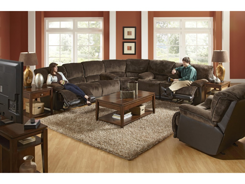 Shown with Coordinating Collection Sectional Sofa. Recliner Shown May Not Represent Exact Features Indicated.