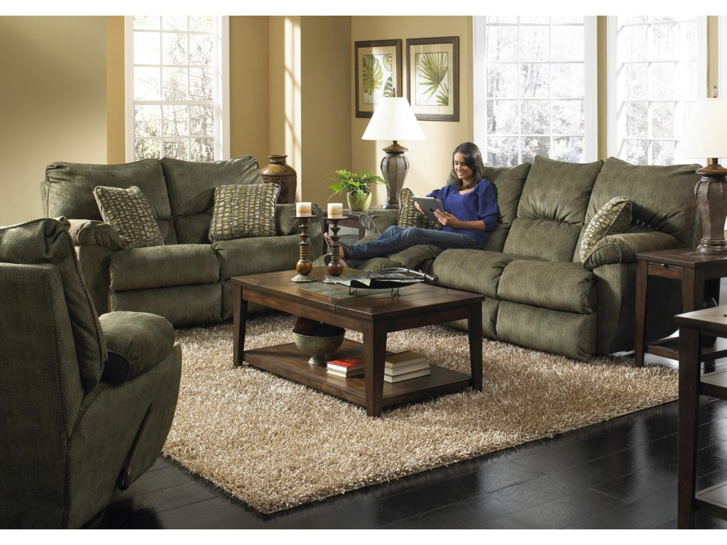 Shown with Coordinating Collection Sofa and Loveseat. Recliner Shown Lower Left Corner.