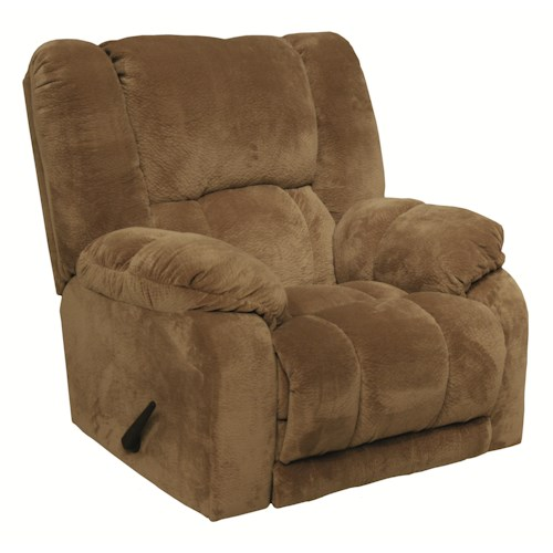 Catnapper Hogan Recliner Over-Sized Chaise Inch-Away Wall Hugger Recliner