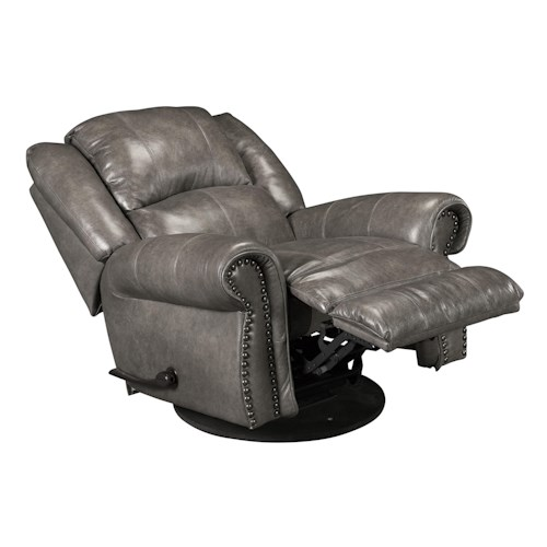Catnapper Livingston Swivel Glider Recliner with Nailhead Trim