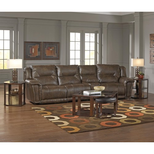 Catnapper Montgomery Reclining Sectional with 3 Seats and 1 Console