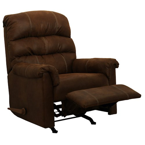 Catnapper Motion Chairs and Recliners Capri Rocker Recliner in Chocolate Upholstery