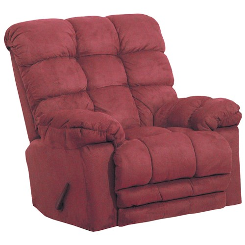 Catnapper Motion Chairs and Recliners Magnum Chaise Rocker Recliner with Heat and Massage