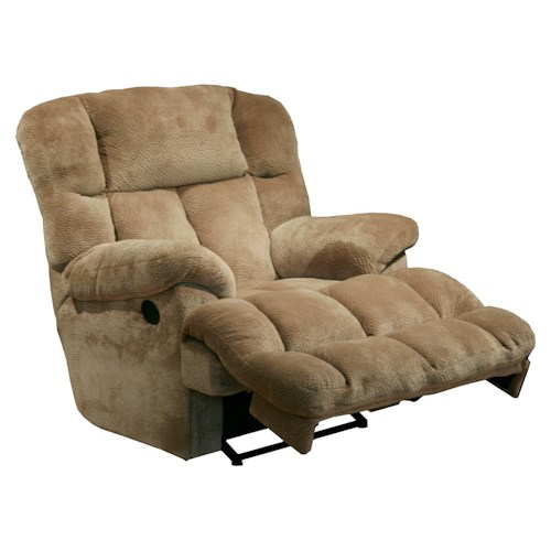 Catnapper Motion Chairs and Recliners Cloud 12 Power Chaise Recliner with Lay Flat Feature