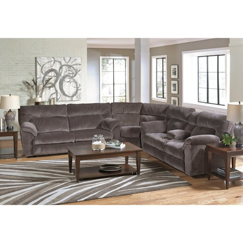 Catnapper Nichols Layflat Power Reclining Sectional