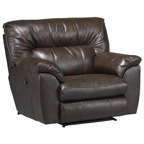 Catnapper Nolan  Extra Wide Cuddler Recliner with Casual Contemporary Style
