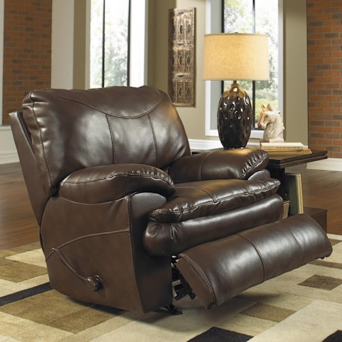 Catnapper Perez Rocker Recliner with Pillow Topped Cushions